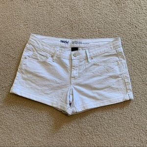Mossimo White Jean Shorts Mid Rise